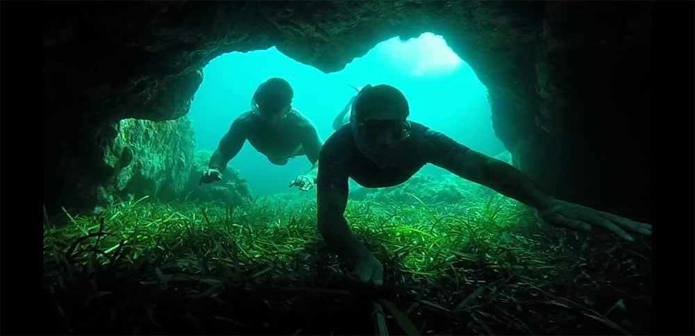 Golfe de Lava apnée masque tuba arche