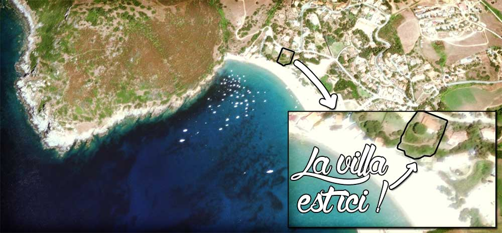 Golfe de Lava location situation villa vue satellite