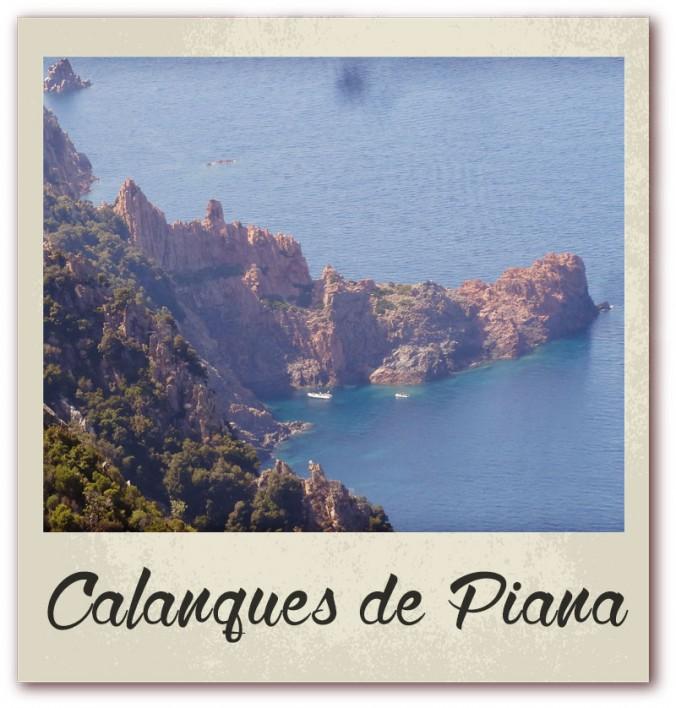 Polaroid livre or corse golfe de lava location villa calanques de piana
