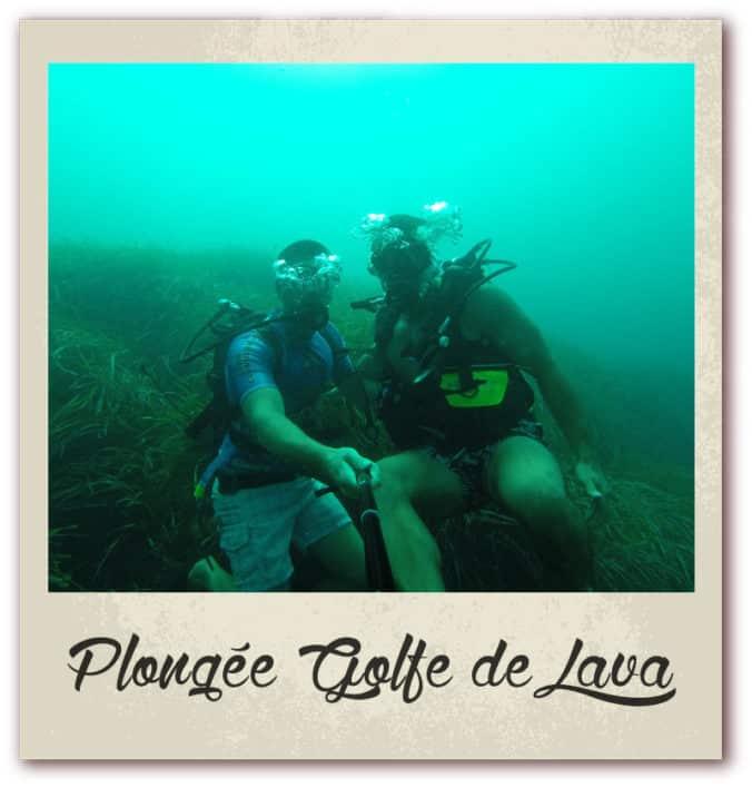 Polaroid livre or corse golfe de lava location villa plongée bouteille