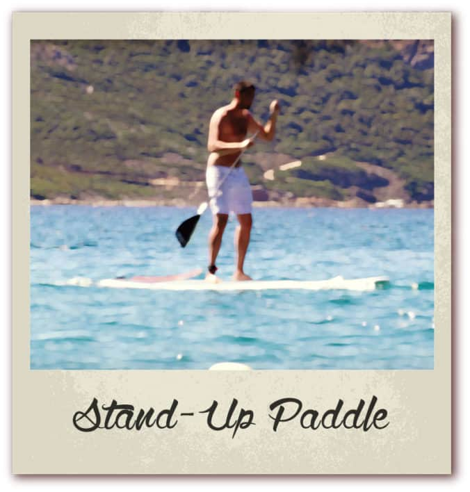 Polaroid livre or corse golfe de lava location villa stand up paddle
