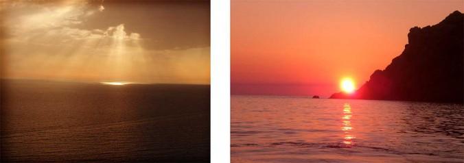 couché de soleil mer corse ajaccio golfe de lava location villa maison