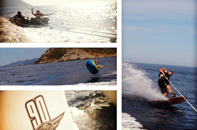 wake board bouee tractee bateau corse ajaccio golfe de lava location villa maison