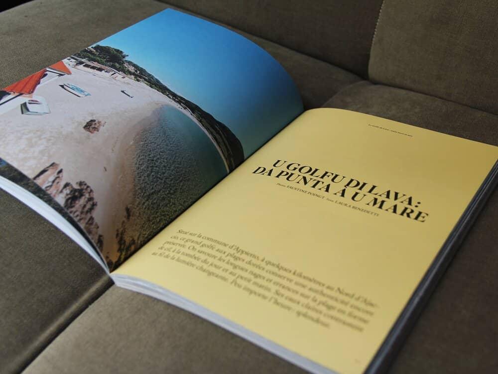 Magazine Corse Maquis parle du Golfe de Lava - U Golfu Di Lava